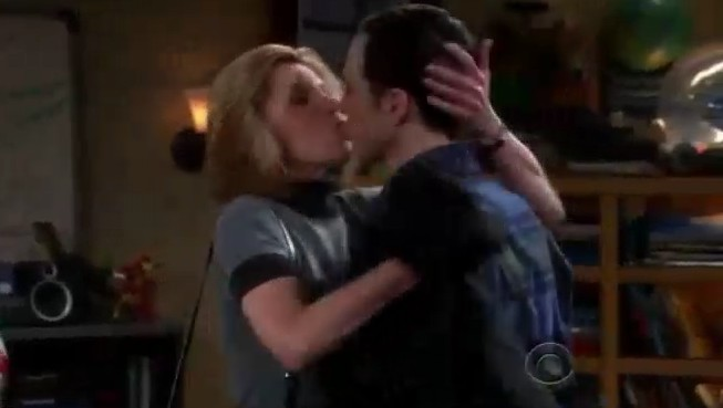 Leonard's mom kiss sheldon
